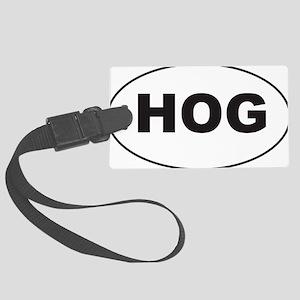 Black HOG Sticker Large Luggage Tag