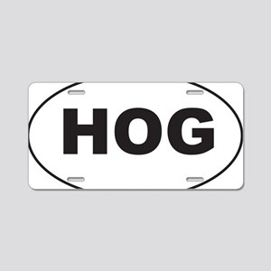 Black HOG Sticker Aluminum License Plate