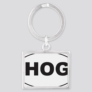 Black HOG Sticker Landscape Keychain