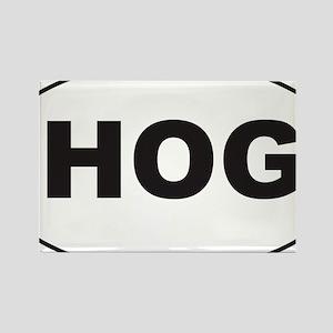 Black HOG Sticker Rectangle Magnet