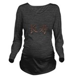 Copper Chinese Longevity Long Sleeve Maternity T-S