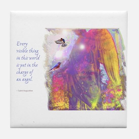 Angel Vision Tile Coaster