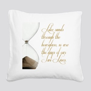 Days of our Twi-Lives Square Canvas Pillow