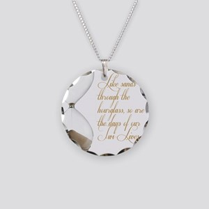 Days of our Twi-Lives Necklace Circle Charm