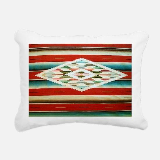 Old Mexican Serape Shoul Rectangular Canvas Pillow