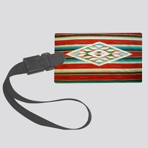 Old Mexican Serape Shoulder Bag Large Luggage Tag