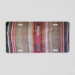 Peruvian Textile Shoulder B Aluminum License Plate