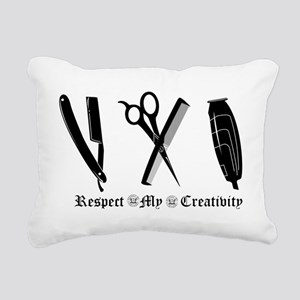 Barber Tools Rectangular Canvas Pillow