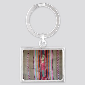 Peruvian Textile Shoulder Bag Landscape Keychain