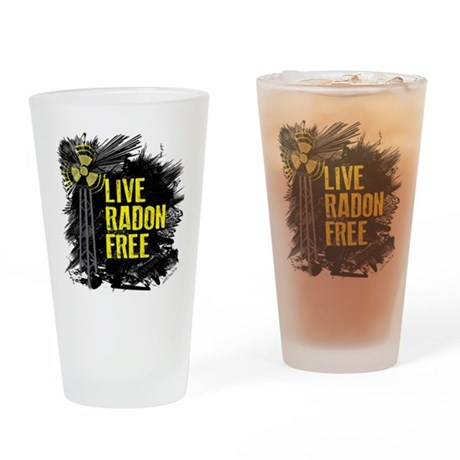 Live Radon Free - Lung Cancer Aware Drinking Glass