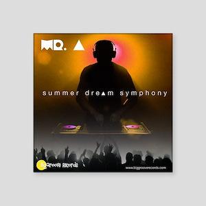 "Summer dream symphony Square Sticker 3"" x 3"""