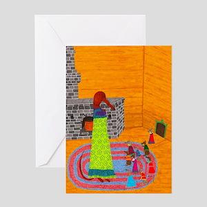 Baba Yaga Balloon Greeting Card