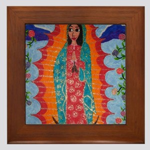 Our Lady of Guadalupe Balloon Framed Tile