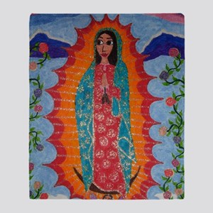 Our Lady of Guadalupe Balloon Throw Blanket