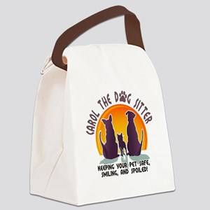 Carol The Dog Sitter with Tag Lin Canvas Lunch Bag