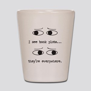 I see book plots... (black) Shot Glass