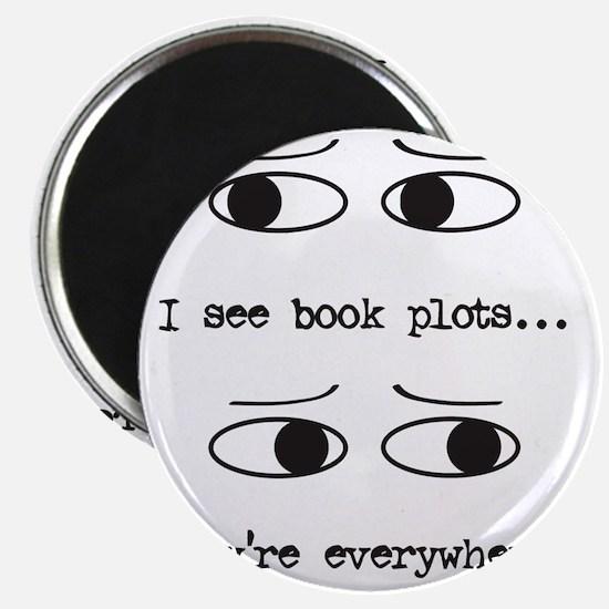 I see book plots... (black) Magnet