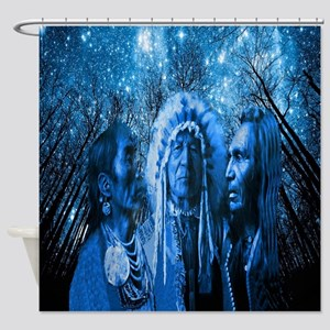 Three Chiefs Shower Curtain