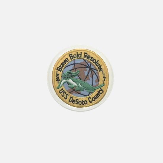 uss desoto county patch transparent Mini Button