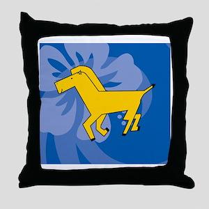 Horse Gel Pad Throw Pillow