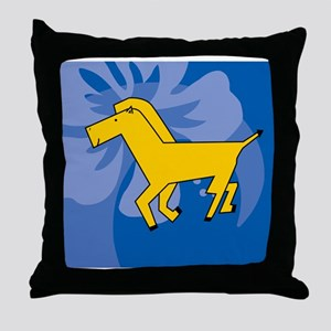 Horse Beer Label Throw Pillow
