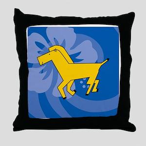 Horse Round Jewelry Case Throw Pillow