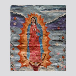 Our Lady of Guadalupe (Papyrus) Ball Throw Blanket