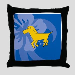 Horse Puzzle Coaster Throw Pillow