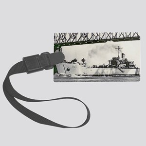 uss desoto county framed panel p Large Luggage Tag
