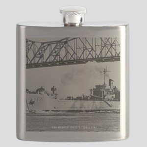 uss desoto county framed panel print Flask