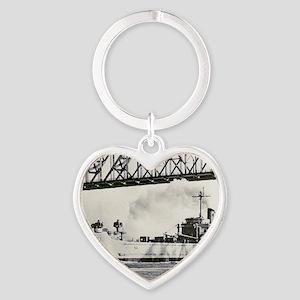 uss desoto county framed panel prin Heart Keychain