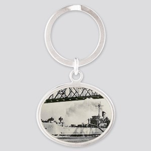 uss desoto county rectangle magnet Oval Keychain