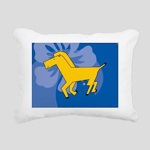 Horse Hitch Rectangular Canvas Pillow