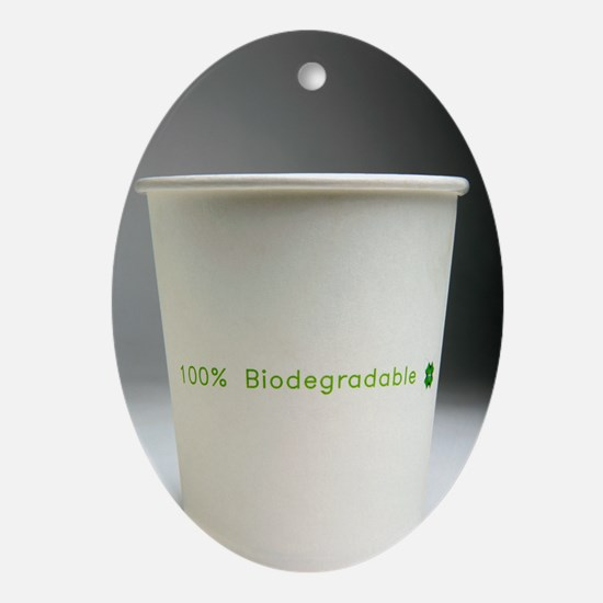 Biodegradable cup Oval Ornament