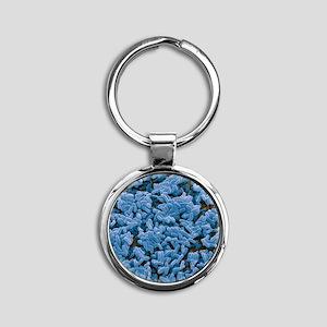 Bacillus subtilis bacteria, SEM Round Keychain