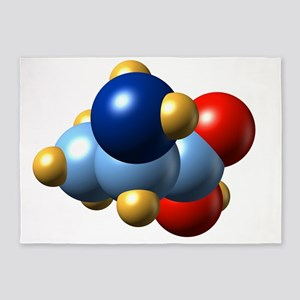 Alanine, molecular model 5'x7'Area Rug