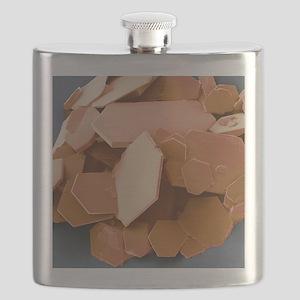 Aspirin crystals, SEM Flask