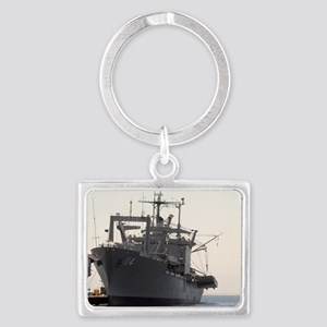 uss durham rectangle magnet Landscape Keychain