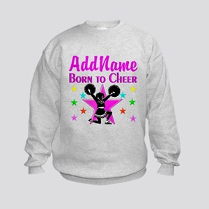 BORN TO CHEER Kids Sweatshirt