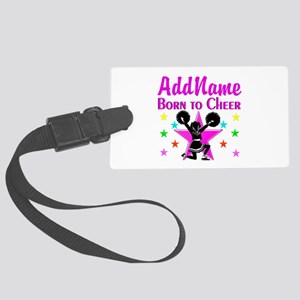 BORN TO CHEER Large Luggage Tag