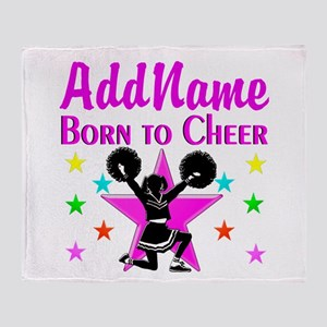 BORN TO CHEER Throw Blanket