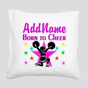 BORN TO CHEER Square Canvas Pillow