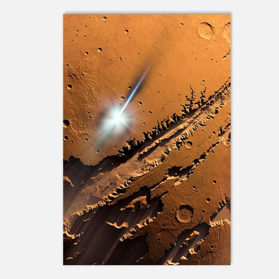 Asteroid impact on Mars,  Postcards (Package of 8)