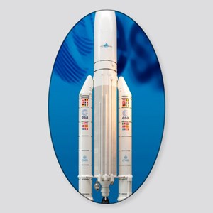 Ariane 5 rocket Sticker (Oval)