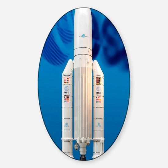 Ariane 5 rocket Sticker (Oval)