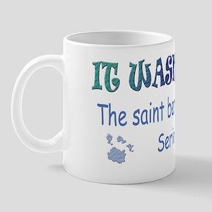 saint bernard farted Mug
