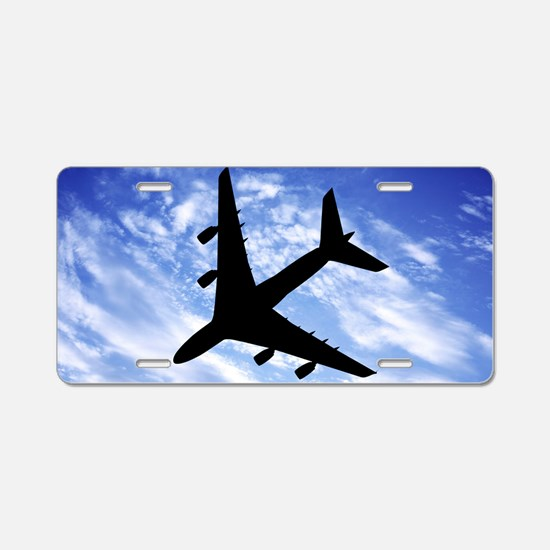 Aeroplane in flight Aluminum License Plate