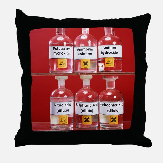 Acids and alkalis Throw Pillow
