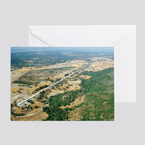 Aerial photo of SLAC Linear Accelera Greeting Card
