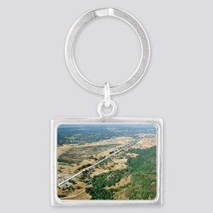 Aerial photo of SLAC Linear Acc Landscape Keychain